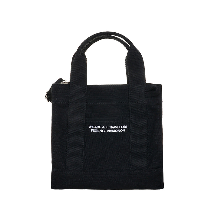 VIAMONOH DAILY MINI CANVAS BAG (BLACK)