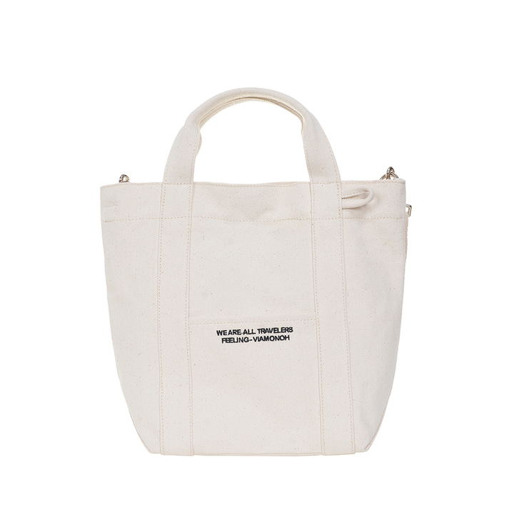 VIAMONOH DAILY TOTE CANVAS BAG (IVORY)