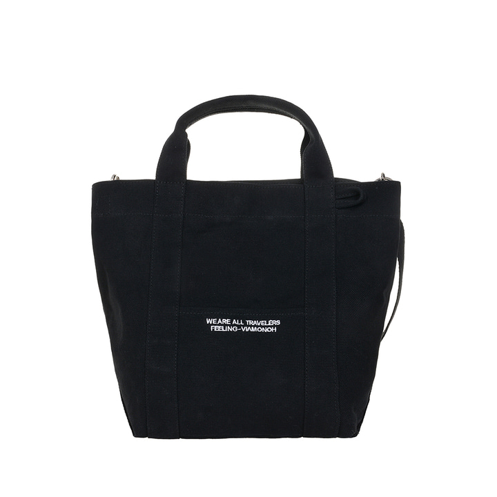 VIAMONOH DAILY TOTE CANVAS BAG (BLACK)